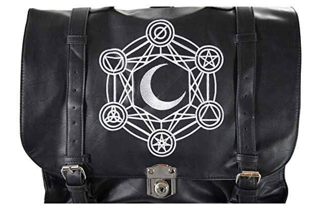 5b092f22b7 Amazon.com  Restyle Gypsy Gothic Dark Magic Witchcraft Moon Messenger  Expandable 3 Way Bag  Shoes
