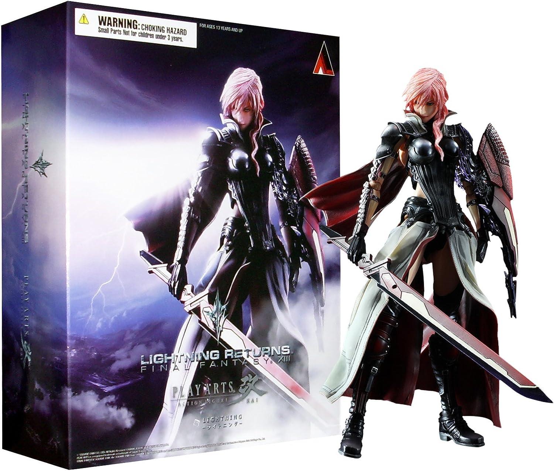 Figura Final Fantasy XIII: Lightning Play Arts Kai: Amazon.es: Videojuegos