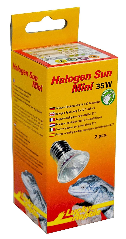Lucky Reptile Halogen Sun Mini Doppelpackung W/ärmestrahler f/ür E27 Fassung