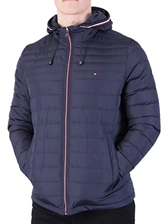 Tommy Hilfiger Mens Lathan Detach Down Jacket, Blue, X-Large