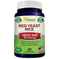 Red Yeast Rice 1800mg - Dietary Supplement Vegan Powder Pills to Support Cardiovascular...