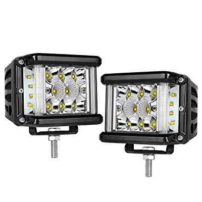Side Shooter LED Light Bar, AKD Part 4 inch LED Pods Triple Row 160W Spot Flood Combo Beam Philips LED Work Lights Driving Lights Super Bright Off Road Lights for Bumper Truck: Automotive