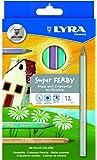 Lyra 3722960 - Pastelli laccati Super Ferby, espositore in legno, 12 pezzi