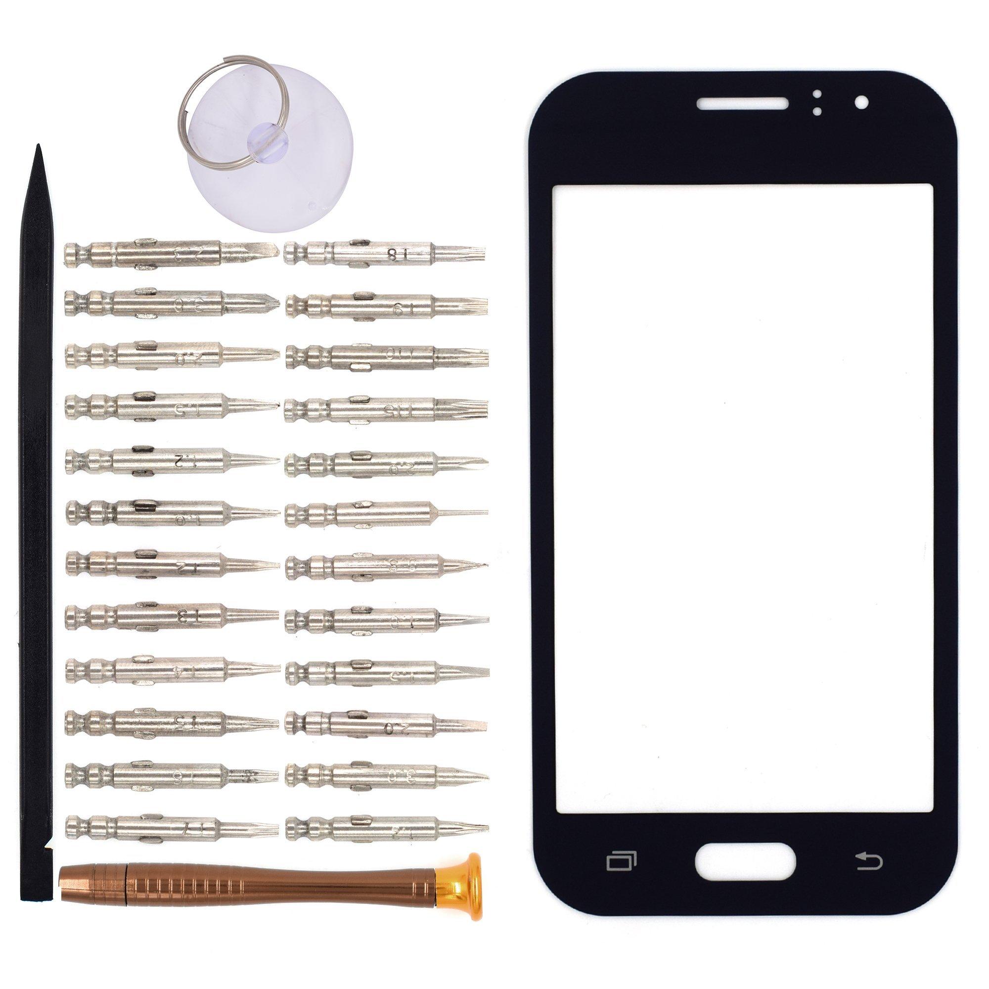 Vidrio Frente para Samsung Galaxy J1 Ace negro [GOODYITOU]