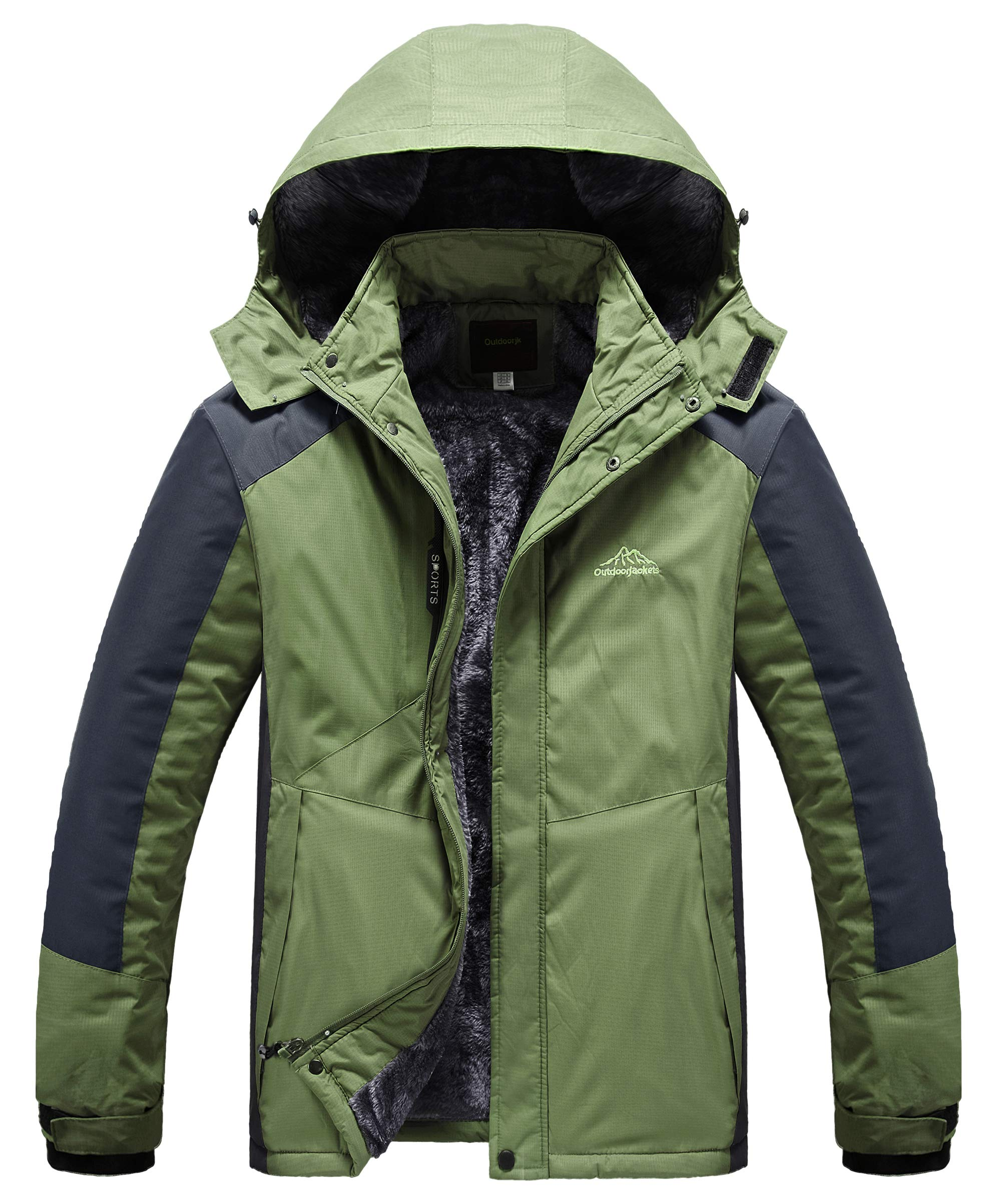 Heihuohua Men s Winter Snowboard Jacket Waterproof Fleece Lined Hiking Coat  product image f7ce88581