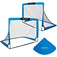 INTEY Soccer Goal Set of 2 and Size 4'x3'Portable Soccer Nets with Carry Bag for Games and Training for Kids and Teens