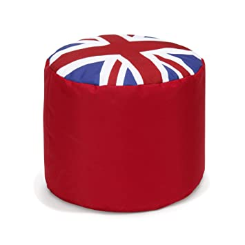 Pouf UK Pouf Rond Au Motif De Drapeau Anglais 40cm Multicolore   Aline