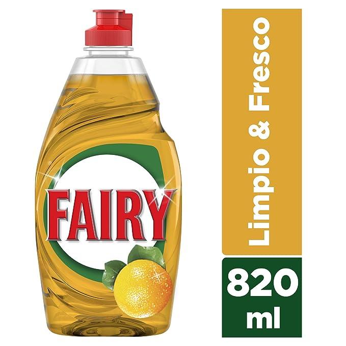 Fairy Limpio & Fresco, Naranja, Líquido para Lavavajillas - 820 ml: Amazon.es: Amazon Pantry