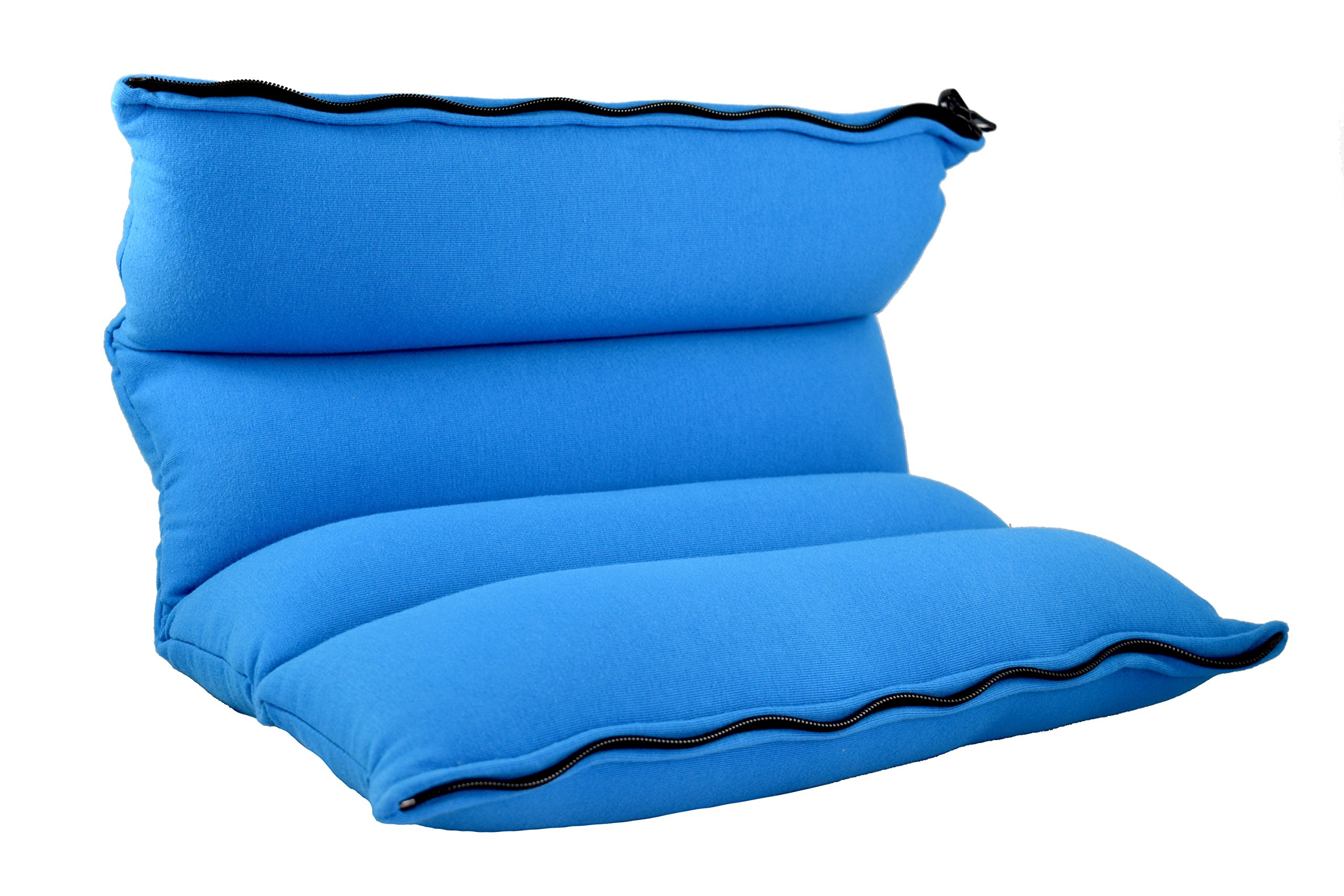 Yogibo ZippaRoll Multiple Purpose Roll up Pillow- Use as a Pillow, Seat Cushion or as Lumbar Back Support - Perfect for Neck, Back or Knees (Turquoise)