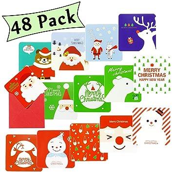 Amazon.com: Tarjeta de felicitación de Navidad, 48 paquetes ...