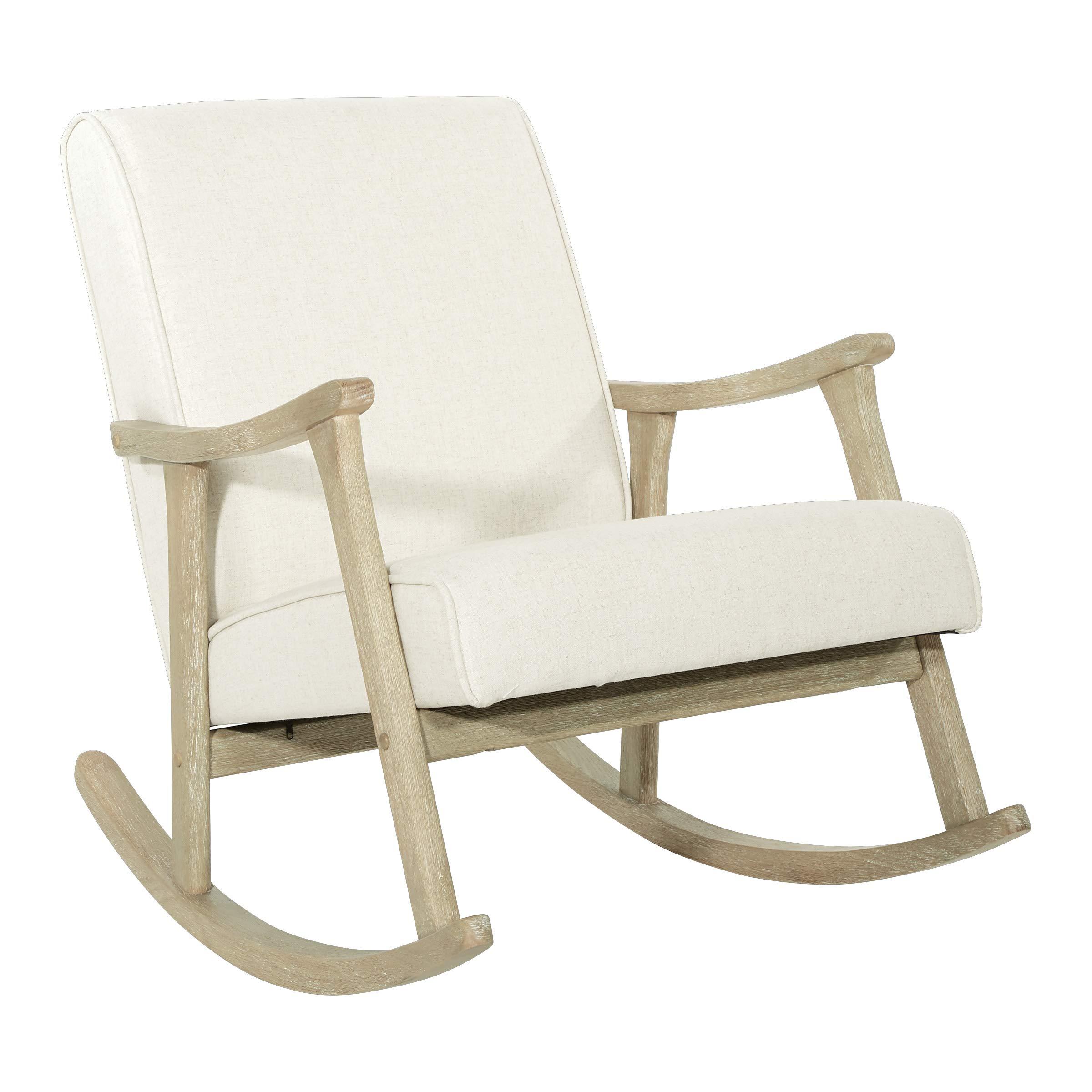 OSP Home Furnishings Gainsborough Rocking Chair, Linen by OSP Home Furnishings