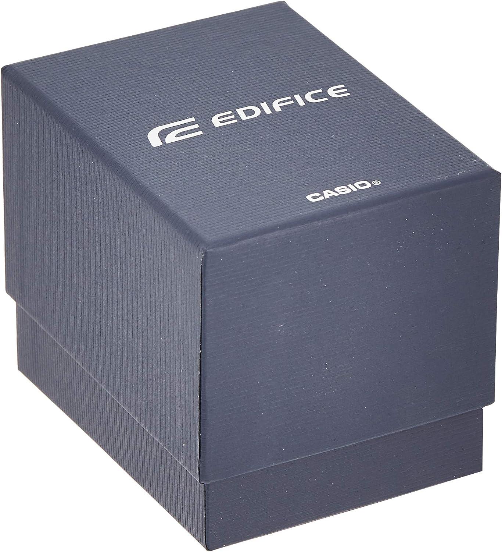 Casio Efr-539bk-1avudf Reloj Analogico para Hombre Colección Edifice Caja De Acero Inoxidable Esfera Color Negro: Amazon.es: Relojes