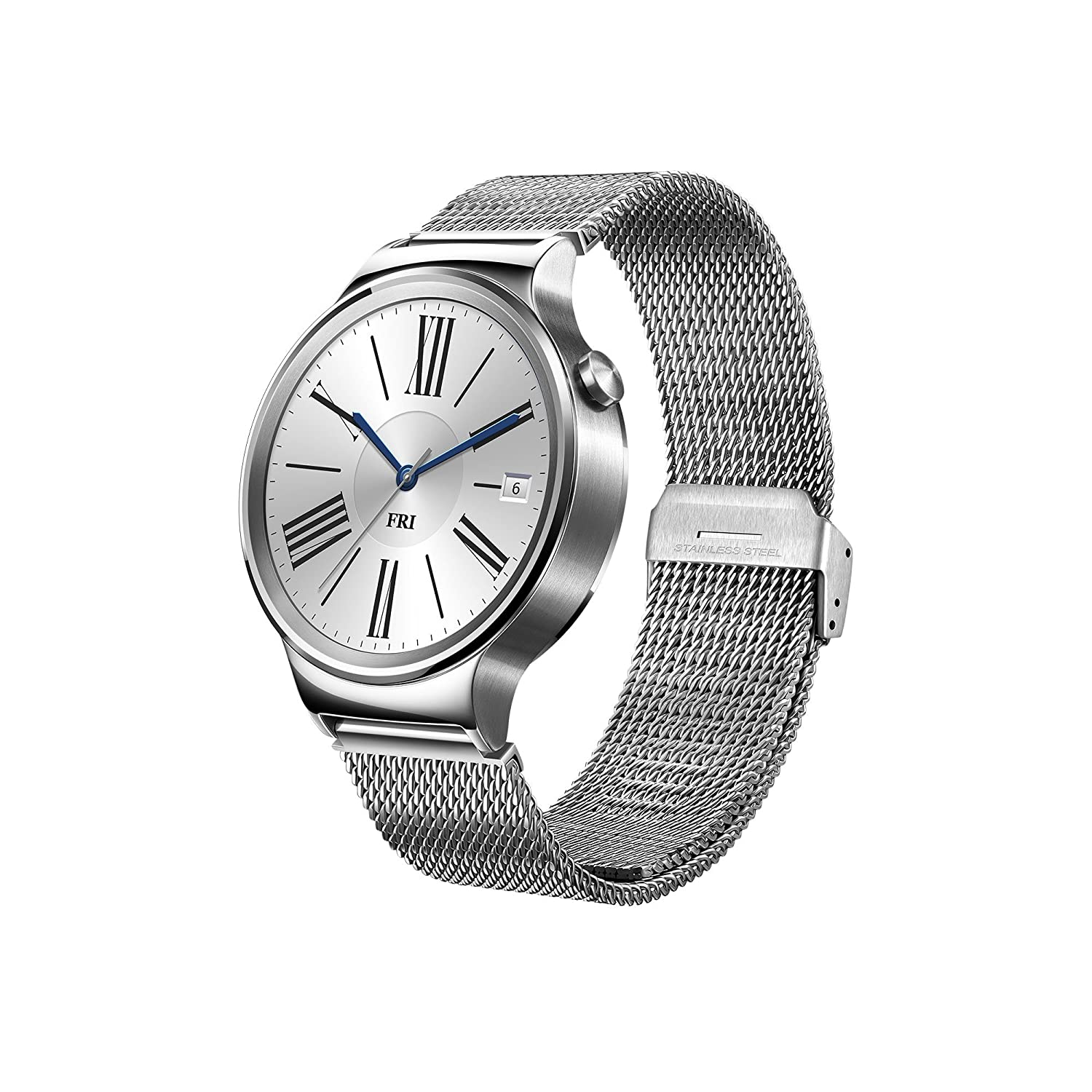 Huawei W1 Stainless Steel Classic Smartwatch with Steel Mesh Strap [Energy  Class A+++]
