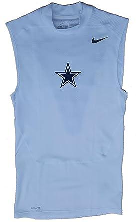 04edb41233542b Nike Men s Pro Combat NFL Dallas Cowboys Dri-Fit Sleeveless Compression  Training Shirt (Tall