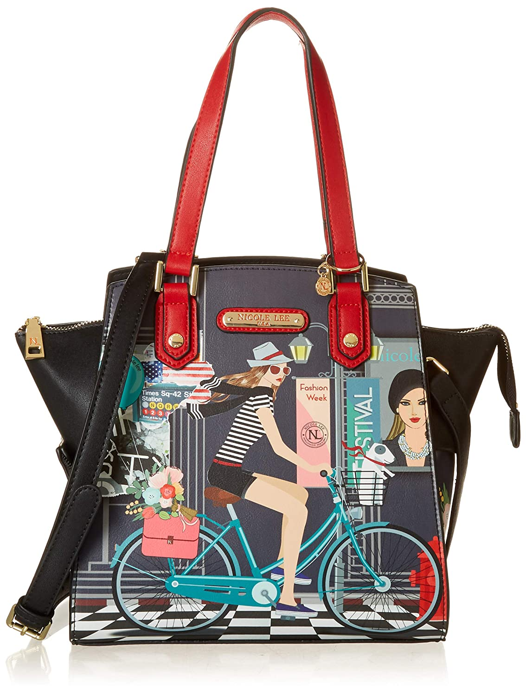 764fa8fb9c Amazon.com  Nicole Lee Women s Multi-Functional Gray Lunch Handbag ...