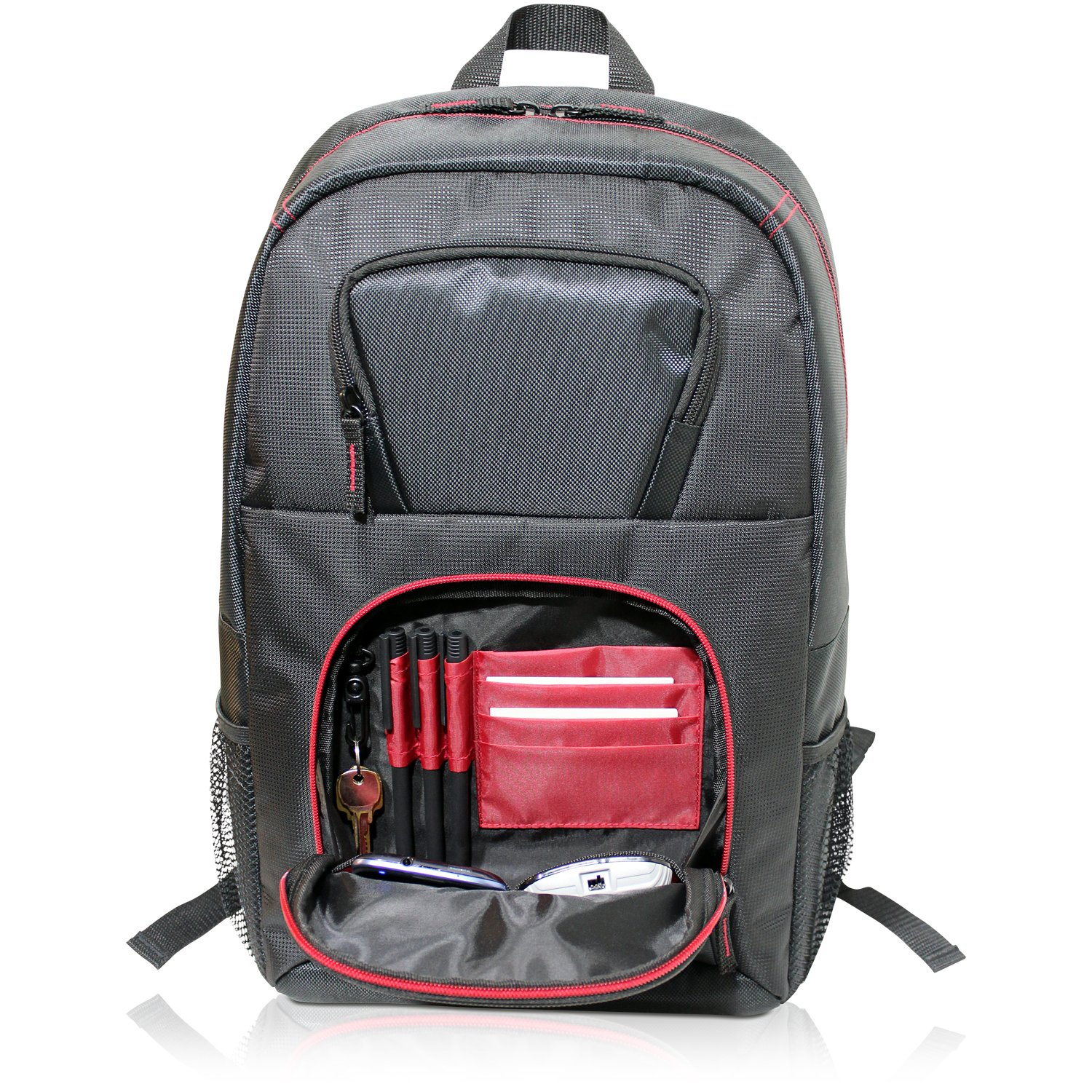 V7 16.1 Vantage Laptop Backpack for Business Professionals, College Students and Travelers Made of Water Resistant Polyester – CBV21RT-9N