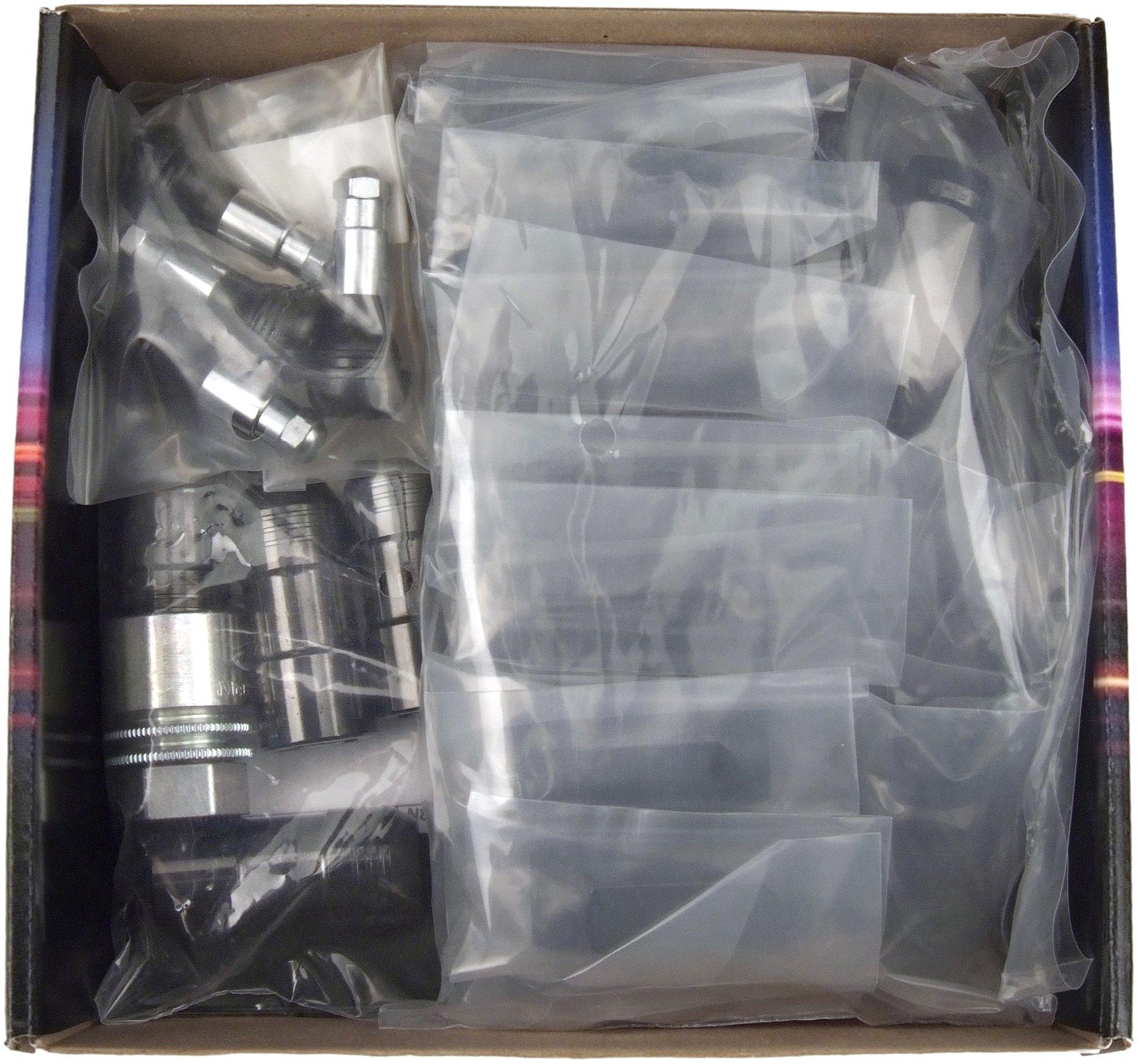 McGard 84640 Chrome/Black Cone Seat Wheel Installation Kit for 6 Lug Vehicles (M14 x 1.5 Thread Size)