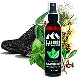 Natural Shoe Deodorizer Spray and Foot Odor Eliminator - Extra Strength Shoe Spray uses Essential Oils As Organic Deodorant - Peppermint, Tea Tree, Eucalyptus
