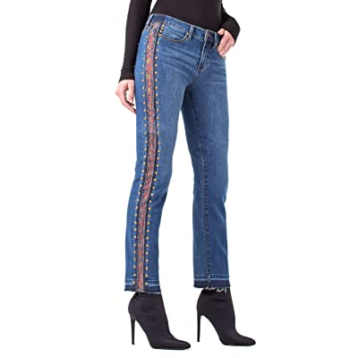 Liverpool Women's Colette Ankle Straight Studded Inset Blue Jean at Women's Jeans store