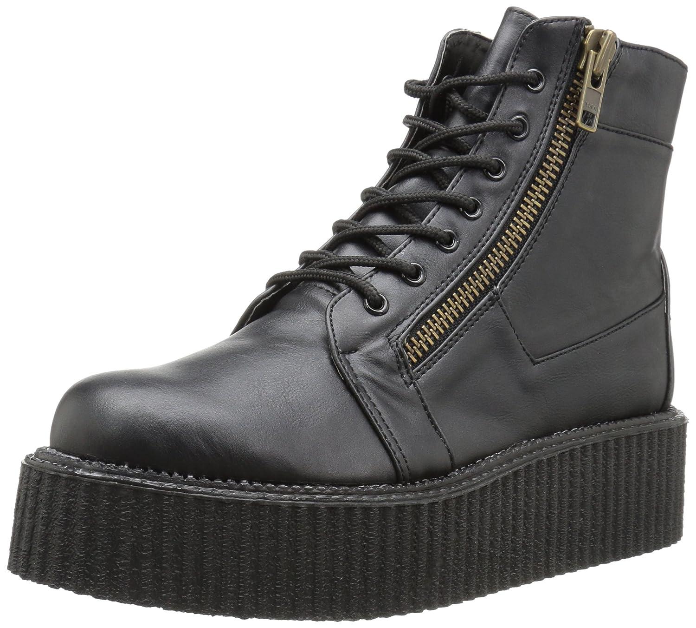 Demonia Men's V-cre571/Bvl Ankle Bootie B013JLE0KW 6 D(M) US Black Vegan Leather