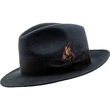 995080441 Sterkowski Sheep Wool Felt Classic Fedora Hat