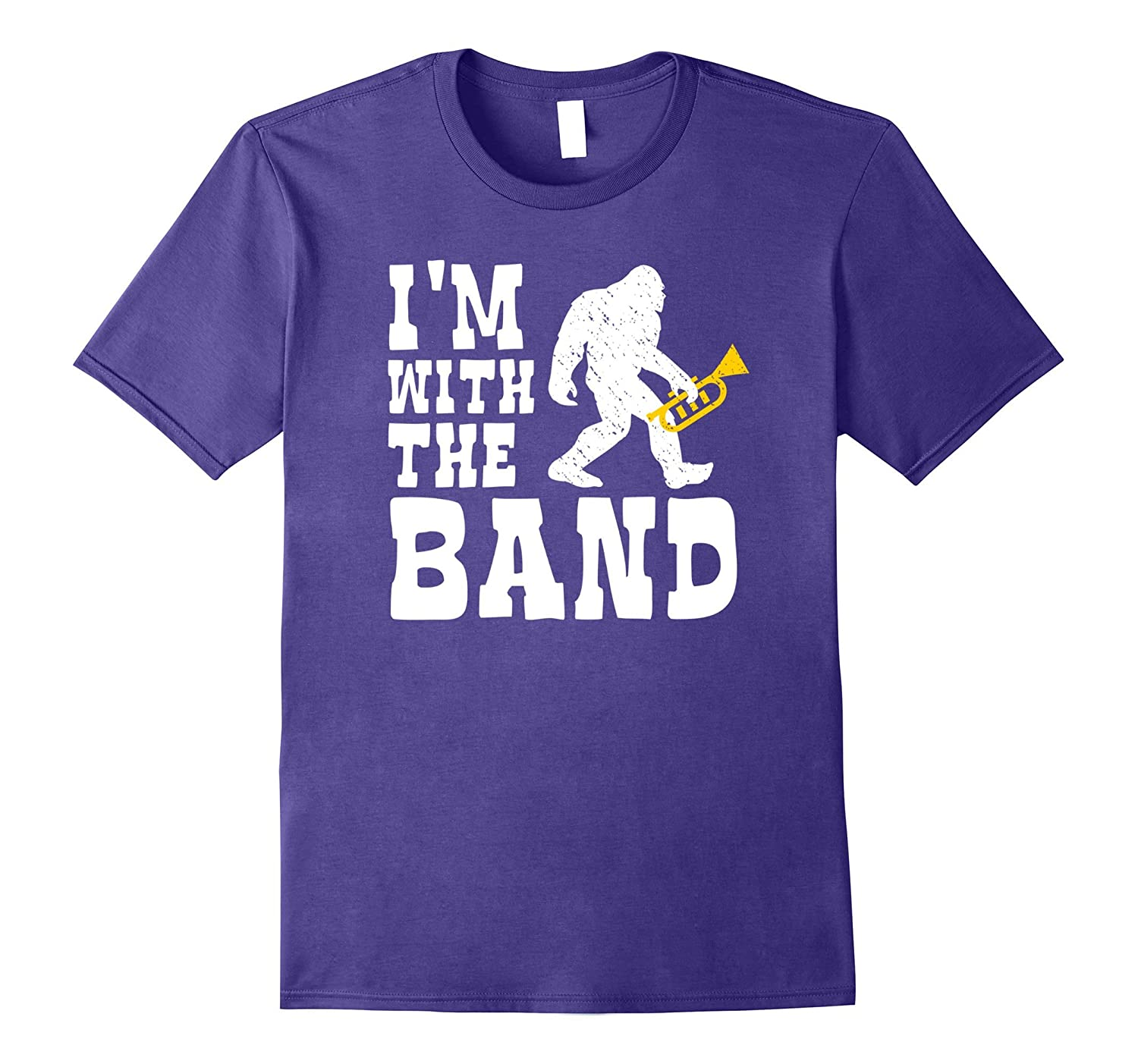 742d40bd Funny Bigfoot I'm With The Band Trumpet Player Gift T Shirt-ANZ ⋆ Anztshirt