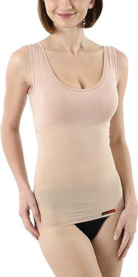 figurformendes Top mit Kompressionswirkung /ärmelloses Shirt mit Schlank-Effekt in Hautfarbe Albert Kreuz unsichtbares Damen Shape-Unterhemd