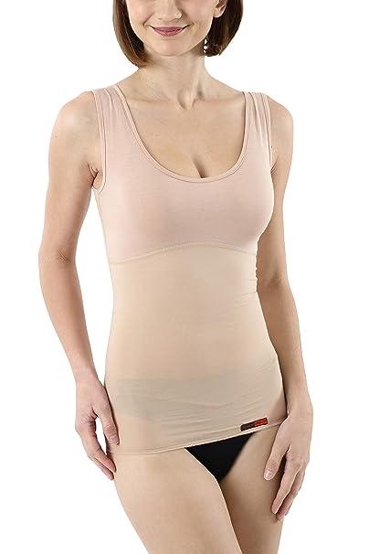ALBERT KREUZ Camiseta Interior Moldeadora Invisible Shape para Mujer - Chaleco contenitivo con Efecto Adelgazante - Top Reductor de Tirantes Anchos de Color ...