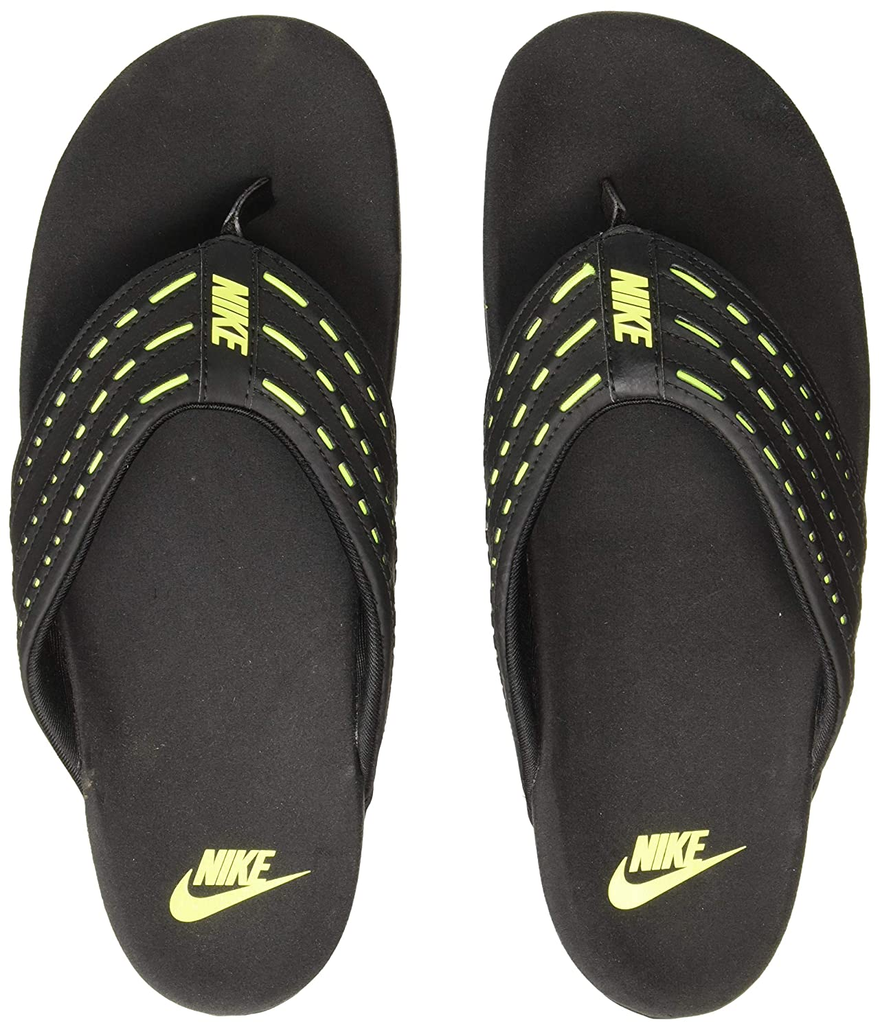 652c4ac97999 Nike Men s KEESO Black Volt Flip Flops Thong Sandals-5.5 UK 38.5 Euro  (749160-001)  Buy Online at Low Prices in India - Amazon.in
