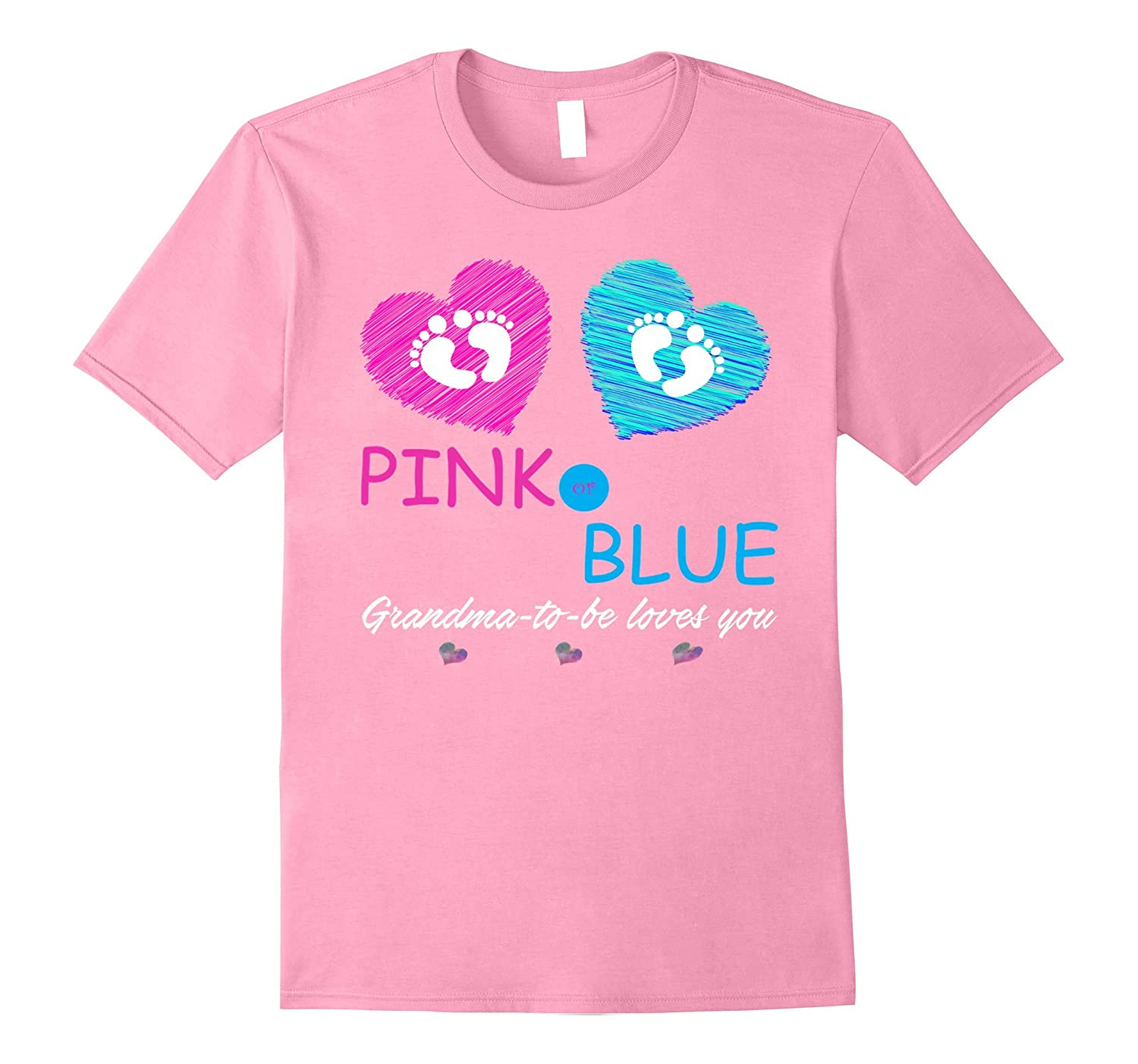 Pink Or Blue Baby Shower Gender Reveal Shirt For Grandma Rt