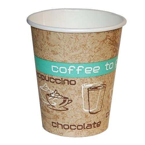 Coffee to Go Lot de 50 gobelets en carton pour boissons chaudes 200ml