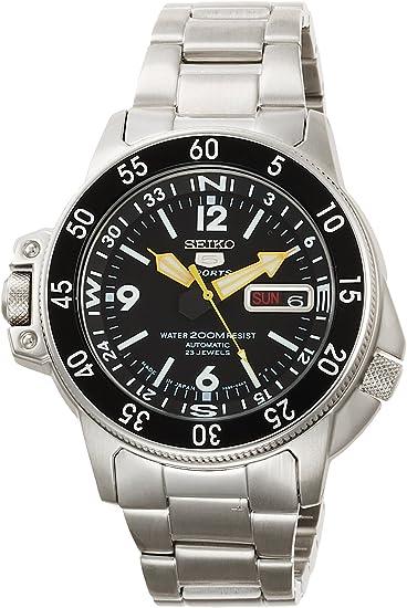 [セイコーインポート]腕時計セイコーimportSEIKO5SPORTS(セイコーファイブスポーツ)オートマチックデイデイトSKZ211JC逆輸入品シルバー