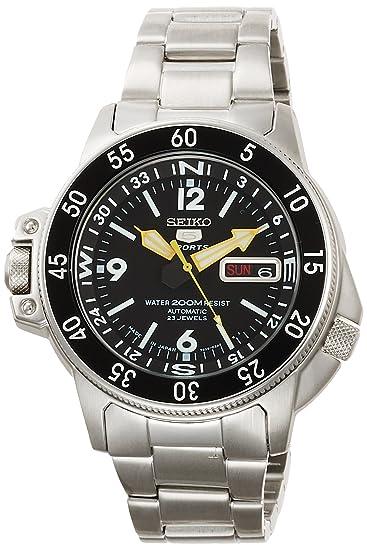 [SEIKO] Reloj SEIKO 5 Deportes Día-Fecha automático SKZ211JC Hombres: Amazon.es: Relojes