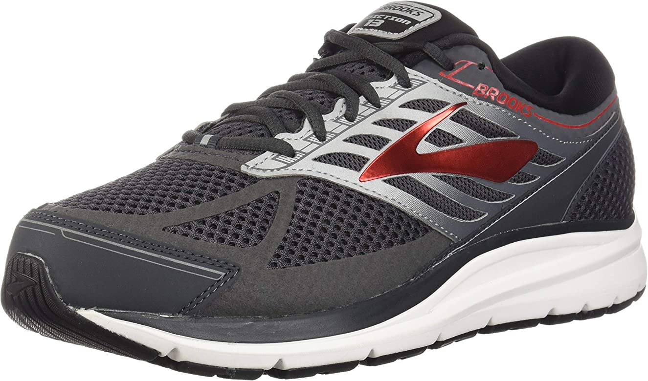 f3c90f3c18a Brooks Men s Addiction 13 Ebony Black Red 7 D US D ...