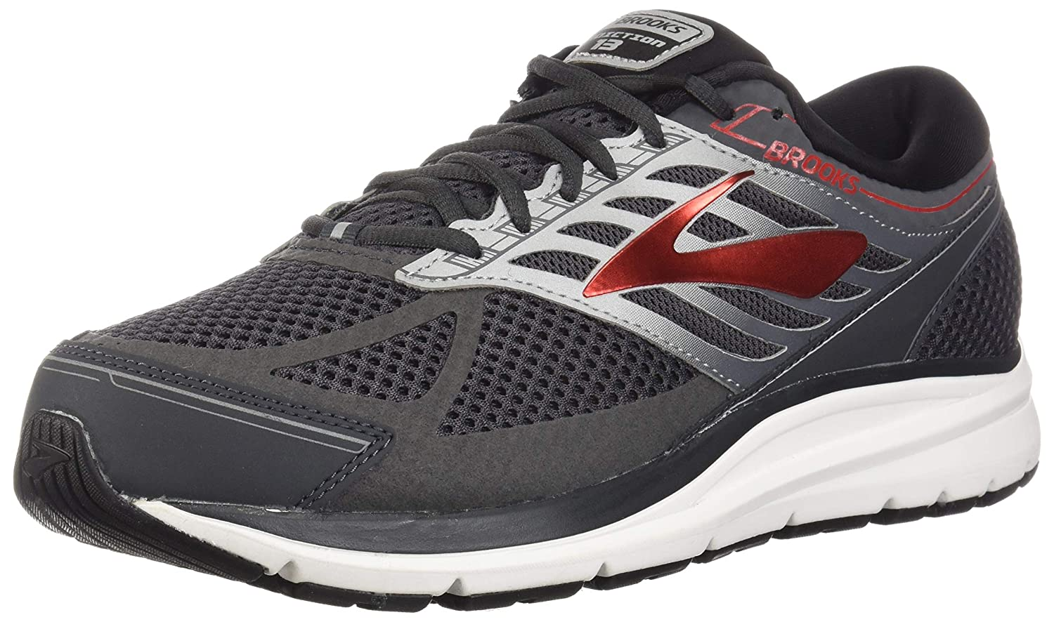 54c6fc76d9e Brooks Men s Addiction 13 Ebony Black Red 12.5 B US B - Narrow  Buy Online  at Low Prices in India - Amazon.in