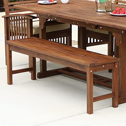 Astounding We Furniture Solid Acacia Wood Patio Bench Ocoug Best Dining Table And Chair Ideas Images Ocougorg