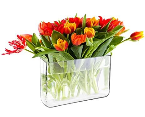 Amazon Decorative Clear Glass Block Vase Rectangular Plant