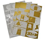 Christmas Gift Tags 48 Gold and Silver Foil Xmas