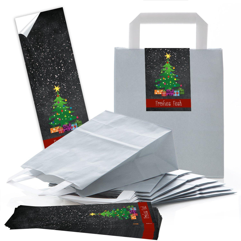 5 gris pequeñas, bolsas de regalo con suelo (18 x 8 x 22 cm) + 5 ...