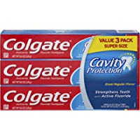 Colgate Cavity Protection 8 ounce (3 Count) Toothpaste with Fluoride + $5 Gift Card