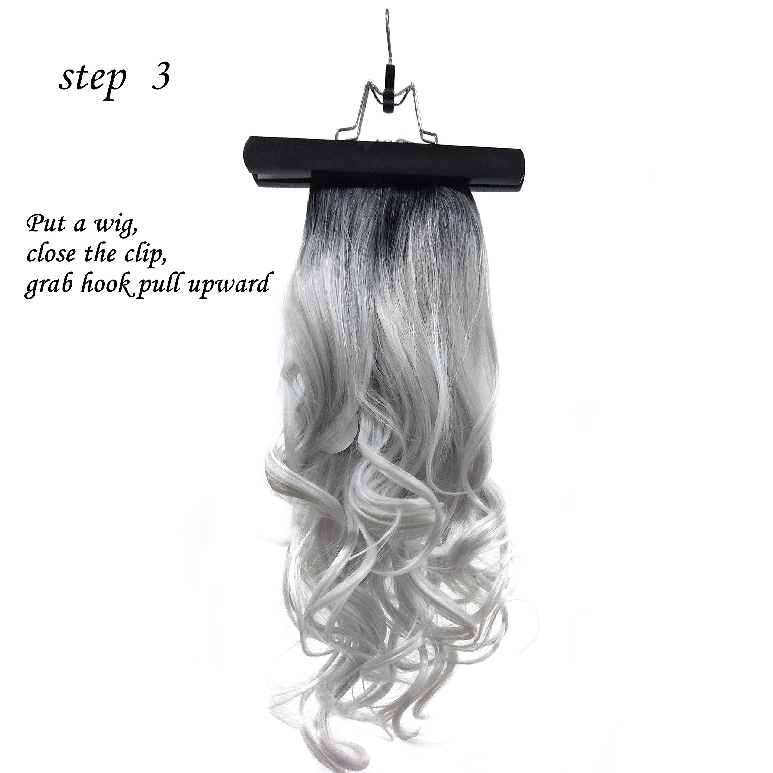 Xingoukeji Dustproof Wig Storage Bag Hair Extension Holder Hair Hanger with Zipper, Black by xingoukeji (Image #7)