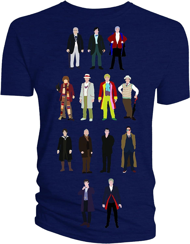 Doctor Who Camiseta de los Doctores Adulto Hombre Vector 13