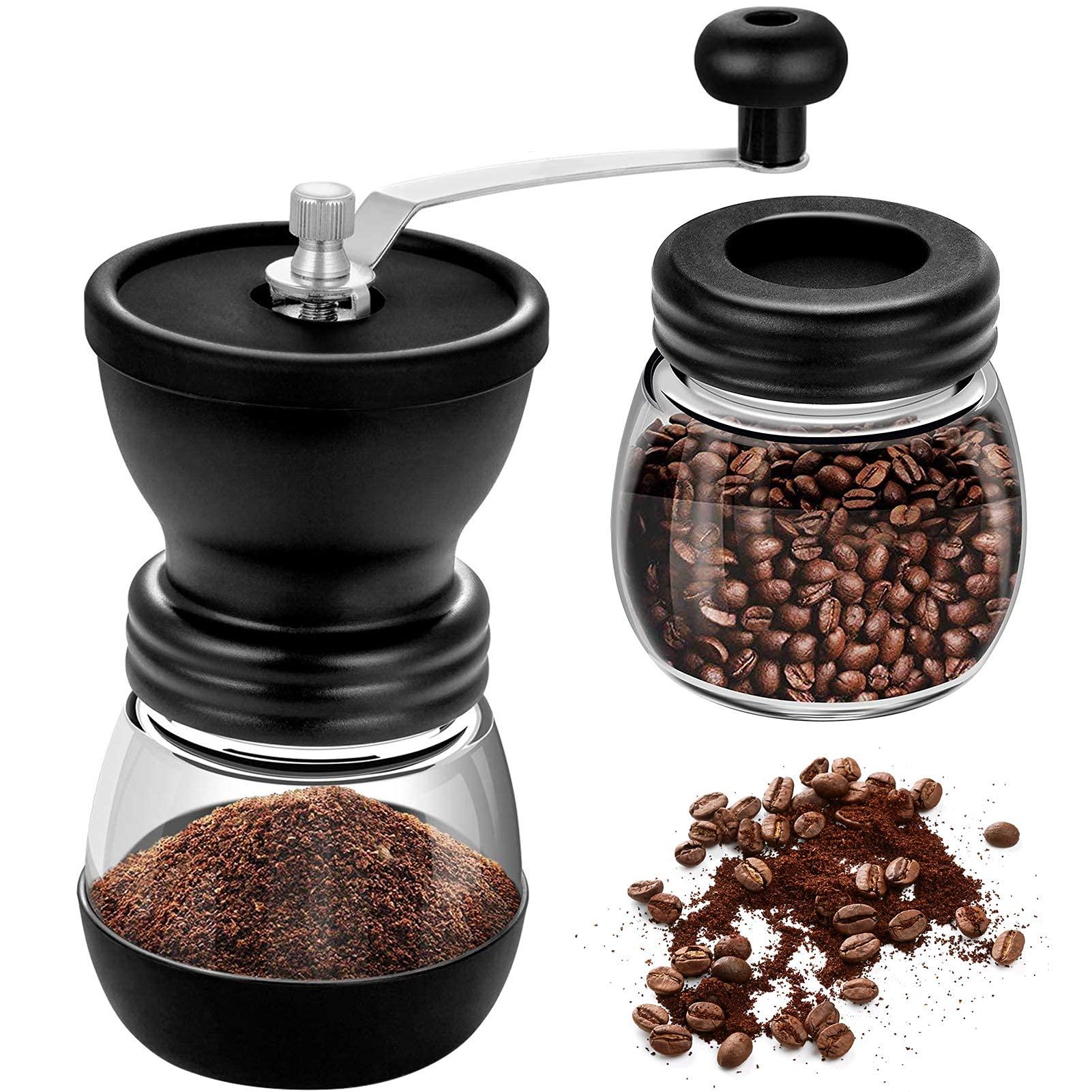 THNMK Manual Coffee Bean GrinderManual Coffee Grinder with Ceramic BurrsAdjustable Hand Grind