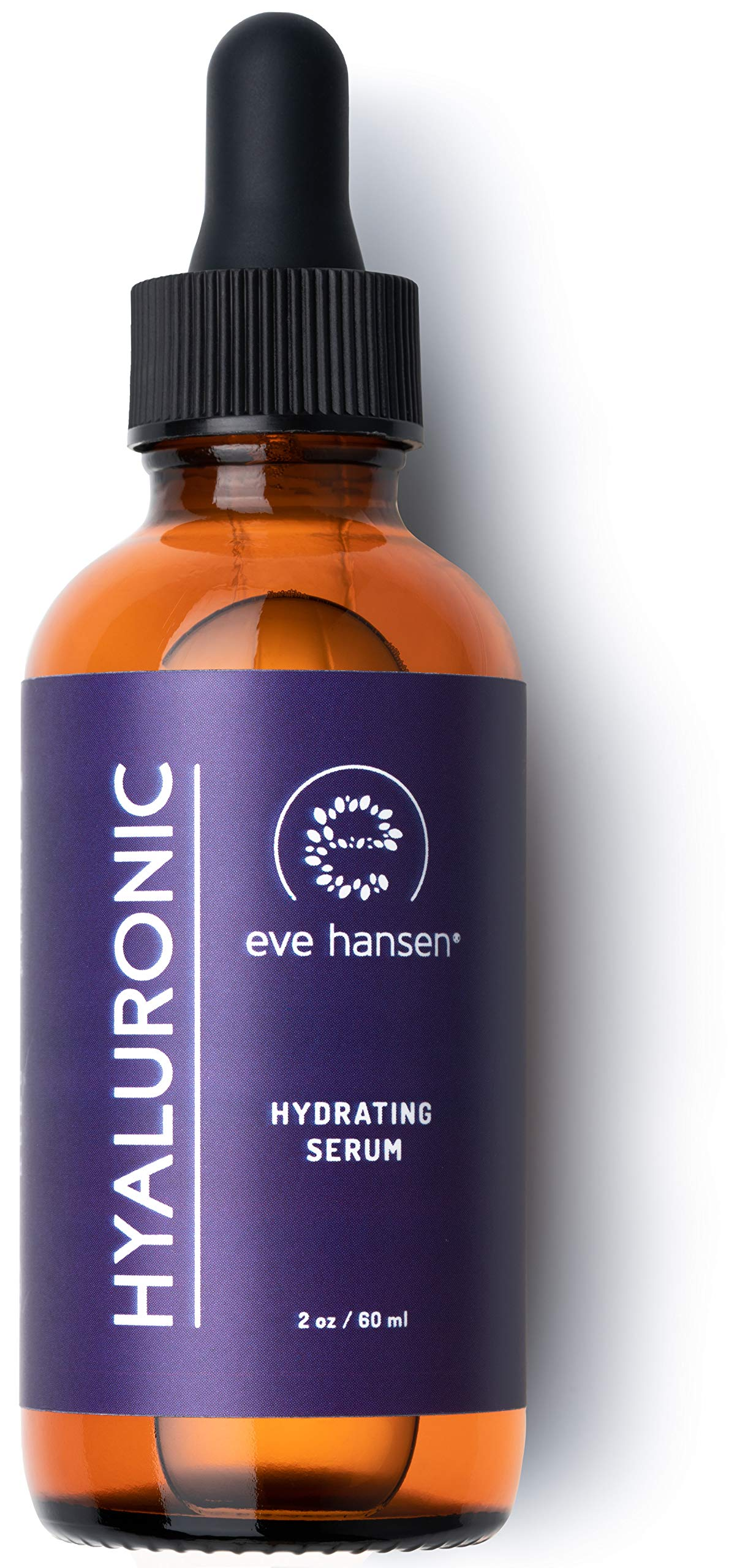Eve Hansen Hyaluronic Acid Serum (2 oz) | Ultimate Hydrating Serum, Face Moisturizer, Wrinkle Filler and Natural Plumper | The Natural, Cruelty Free, Vegan Anti Aging Serum by Eve Hansen