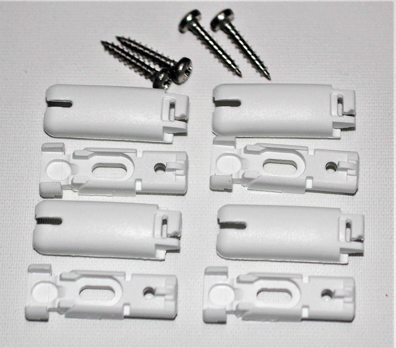 4 Stück, weiß Spannschuhe Zubehör für Plissee für Stick /& Fix Klebeträger
