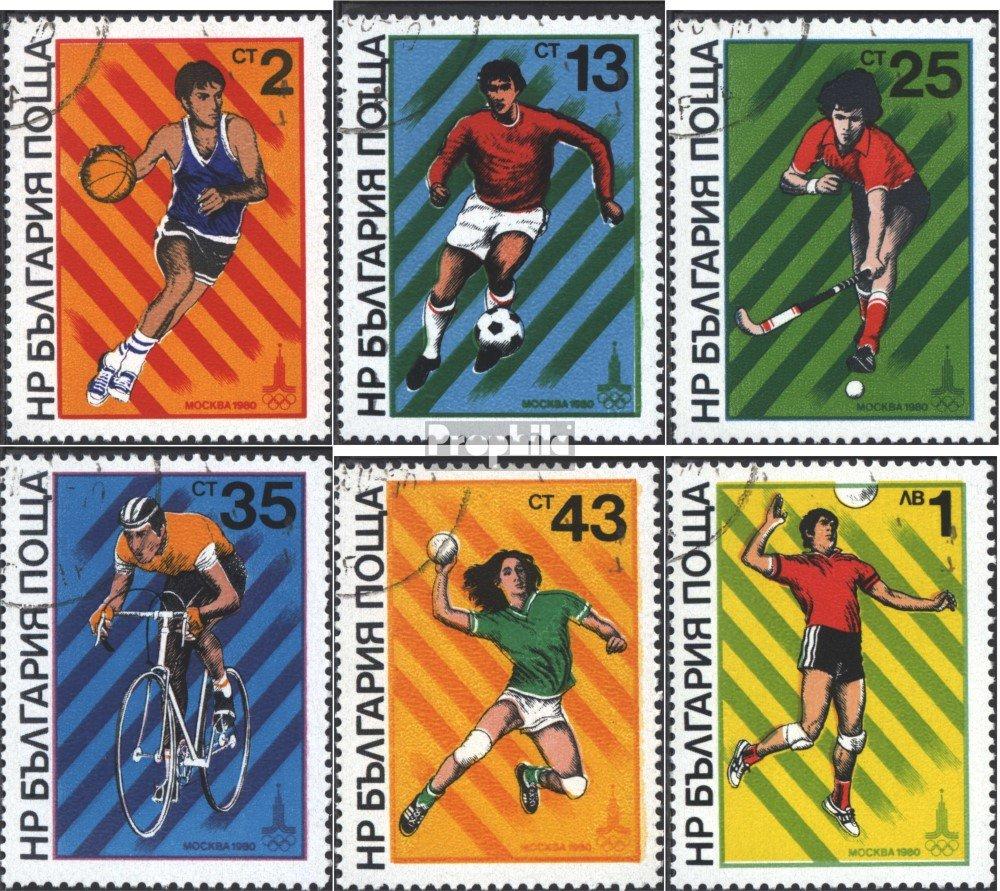 1980 Sommerolympiade in Moskau kompl.Ausg. Briefmarken f/ür Sammler Prophila Collection Bulgarien 2877-2882 Olympische Spiele