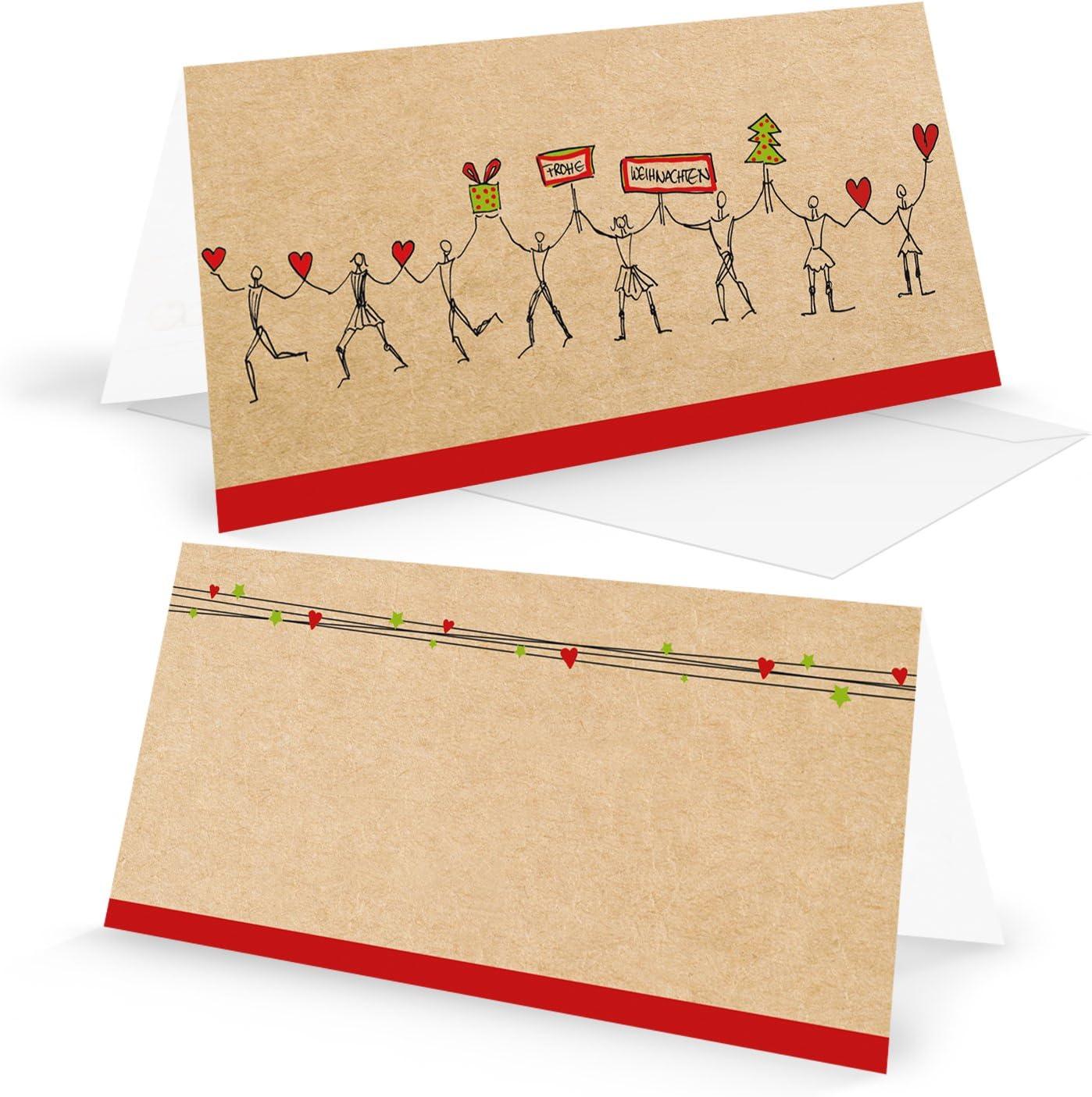 URSUS Briefkarten weiß DIN lang einfach 25 Stück