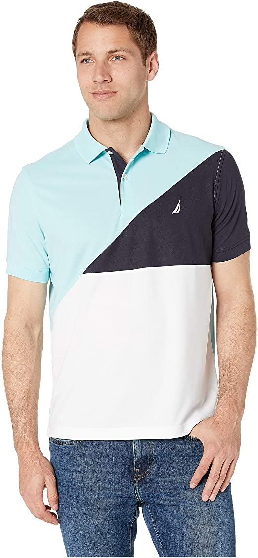 Nautica Mens Angle Color Blocked Polo: Amazon.es: Ropa y accesorios