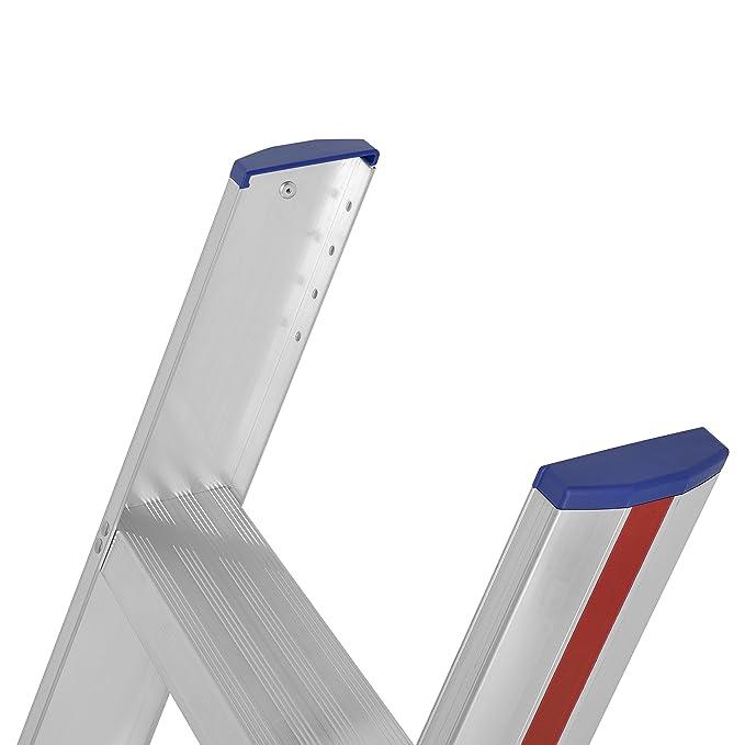 breite Stufen, gro/ße Leiterschuhe, D-Holm Konzept, Arbeitsh/öhe ca. 1,95 m Hymer Stufenanlegeleiter 5 Stufen 601205
