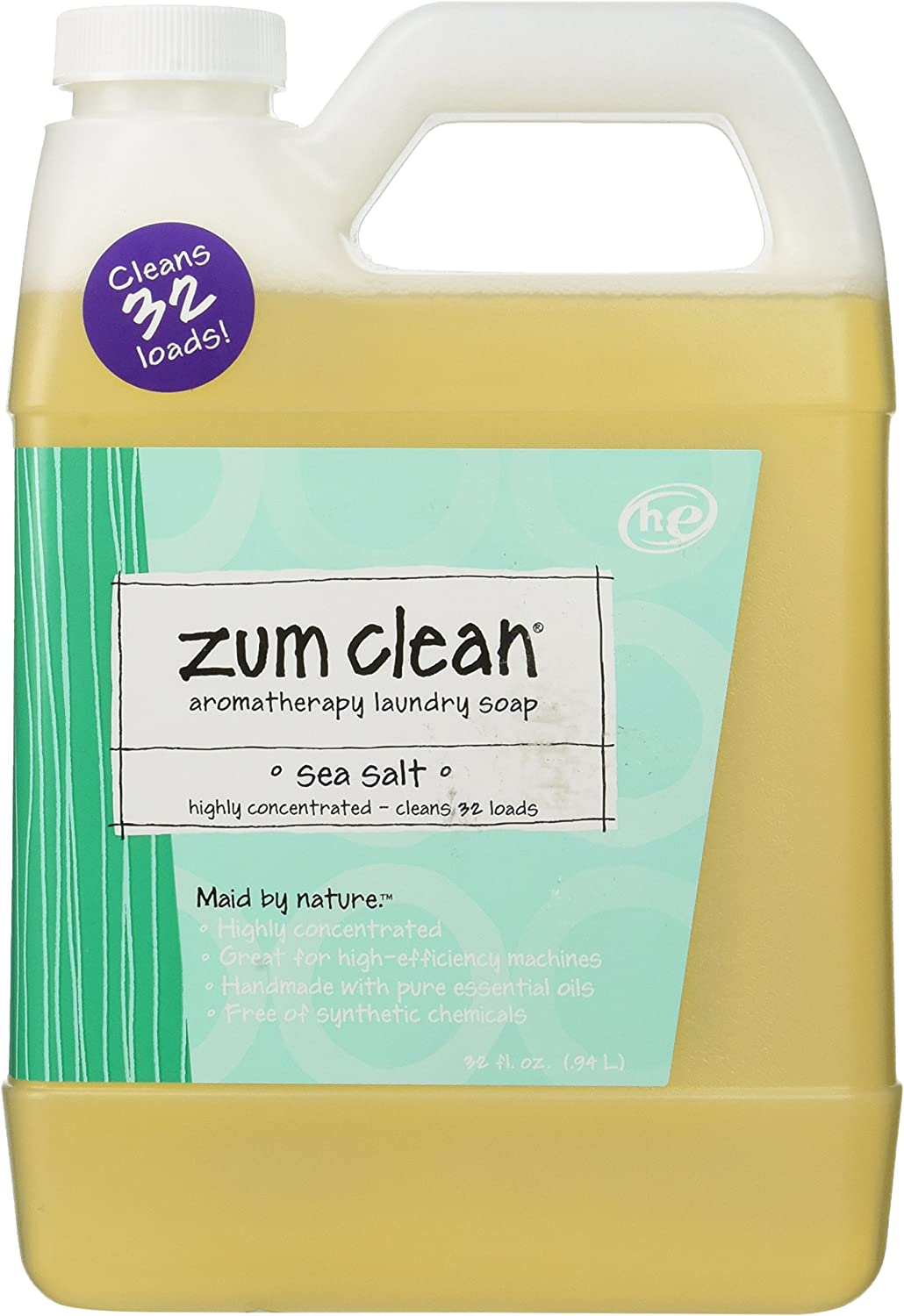 Indigo Wild Zum Clean Laundry Soap, Sea Salt, 32 Fluid Ounce
